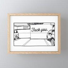 Angry Lot Framed Mini Art Print