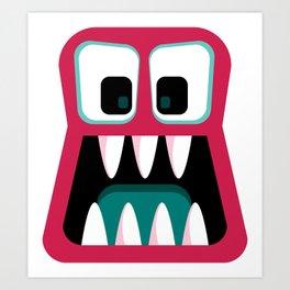 Bubble Beasts: Beastly Bubblegum Breath Freshener Art Print