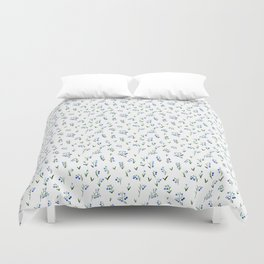 blue lily subtle pattern Duvet Cover