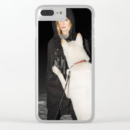 White Fang Clear iPhone Case