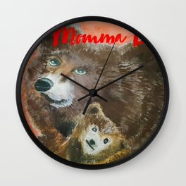 momma bear Wall Clock