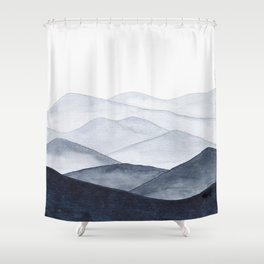 Watercolor Mountains Shower Curtain