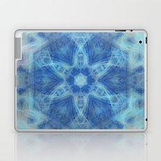 Wispy fairy kaleidoscope in blue Laptop & iPad Skin