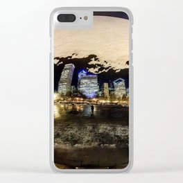 The Chicago Bean (Color) Clear iPhone Case
