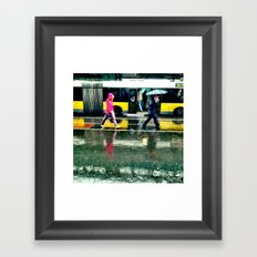 Rain II - yellow Framed Art Print