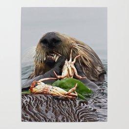 Sea Otter Crab Breakfast Poster