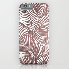 Modern elegant faux rose gold tropical palm tree iPhone 6s Slim Case