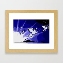 Fly, fly away. Framed Art Print