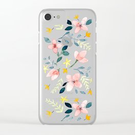 Watercolor Florals Clear iPhone Case