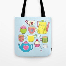 Teapots, cupcakes & more Tote Bag