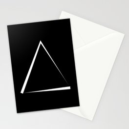 Abstraction 011 - Minimal Geometric Triangle Stationery Cards