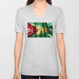 Guyana Flag Unisex V-Neck