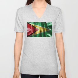 Guyana Flag Unisex V-Neck