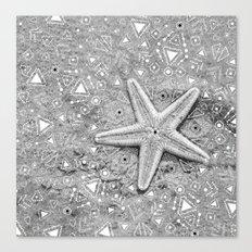 pow wow star Canvas Print