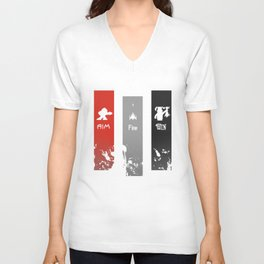 Aim, Fire, Win Unisex V-Neck