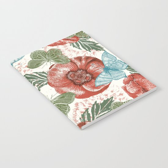 Poppies and Butterflies Pattern Notebook
