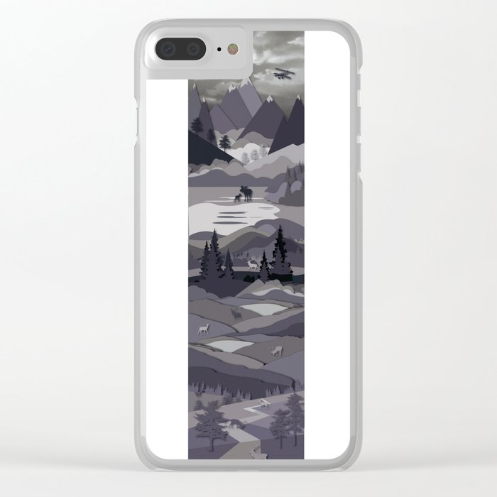 Up The Mountains Clear iPhone Case