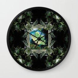 Luna Moth In Ivy Wall Clock