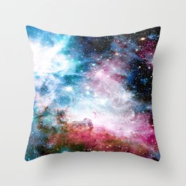 Carina Nebula : Colorful Galaxy Throw Pillow