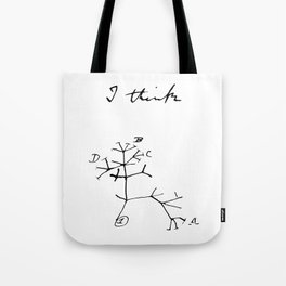 Darwin - Tree of Life - I Think Tote Bag