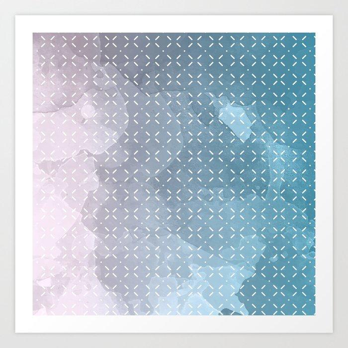 Geometric Aquarelle Art Print