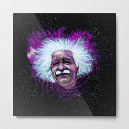 Albert Einstein Nebula Metal Print