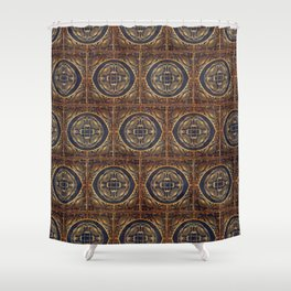 Grecian Bath House Tiles  Shower Curtain