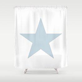 Single dove gray star on white Shower Curtain