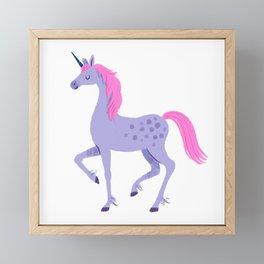 Lavender & Pink Unicorn Framed Mini Art Print