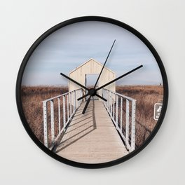 BLUE MOON V / Alviso, California Wall Clock