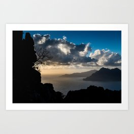 Clouds over the sea Art Print