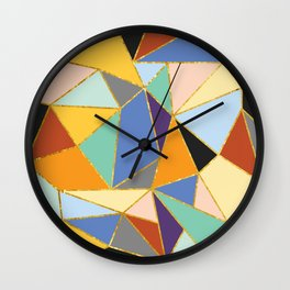 Primary&Gold Wall Clock