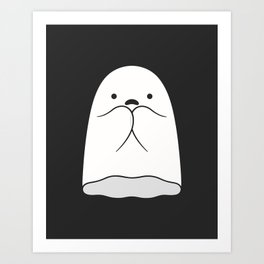The Horror / Scared Ghost Art Print