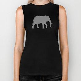 African Elephant Silhouette(s) Biker Tank