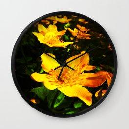 marsh-marigold Wall Clock