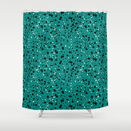 Speckled Emerald Shower Curtain