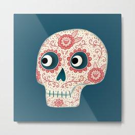 Mexican Dia de los Muertos Day of the Dead Metal Print