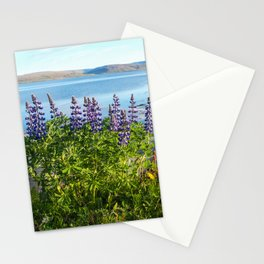 Lupins by the Fjord 1 Stationery Cards