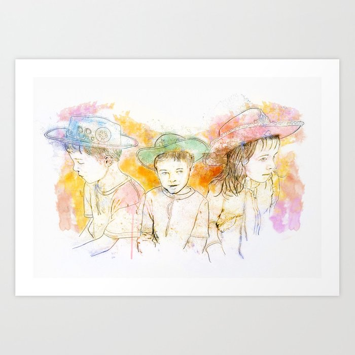 Cowboys and Cowgirls Art Print