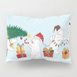 Polar Christmas Border Pillow Sham