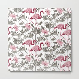 "Pink flamingo design ""Frida"" Metal Print"