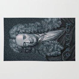Gravity / Vintage portrait of Sir Isaac Newton Rug
