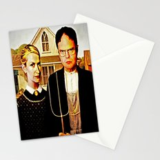 Dwight Schrute & Angela Martin (The Office: American Gothic) Stationery Cards