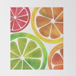 A Burst of Citrus Throw Blanket
