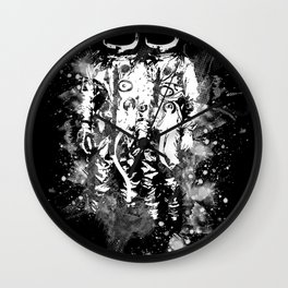 Space Twins Wall Clock
