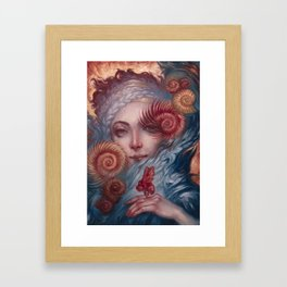 Lady Nautilus and Companion by Kristina Carroll Framed Art Print