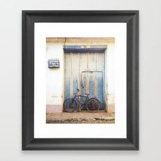 Bird and Bicycle. Framed Art Print