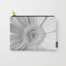 White Gerbera Carry-All Pouch