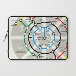 Final Fantasy VII - Midgar Mass Transit System Map Laptop Sleeve