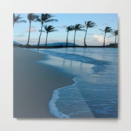 BEACH AND PALM TREES1 Metal Print